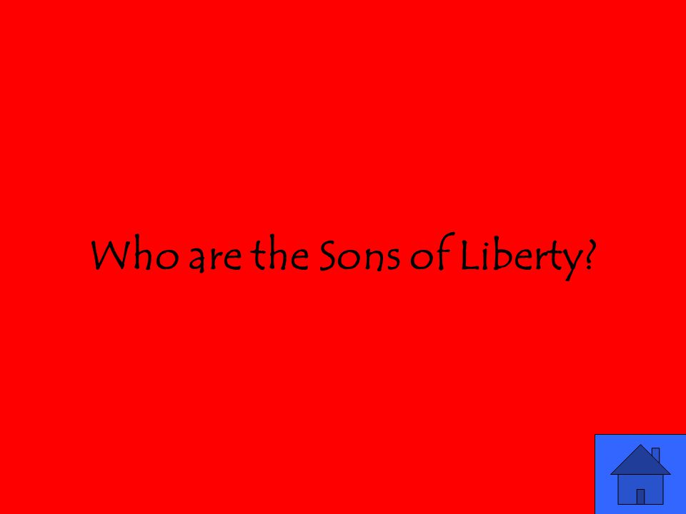 Who are the Sons of Liberty?