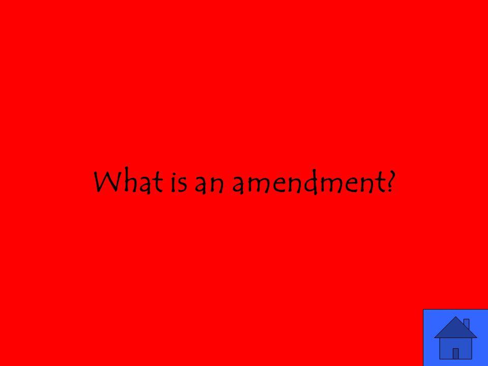 What is an amendment