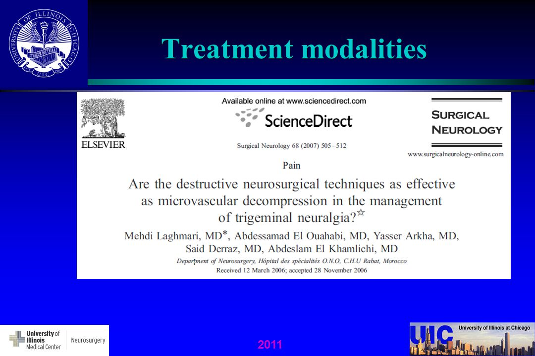 2011 Treatment modalities