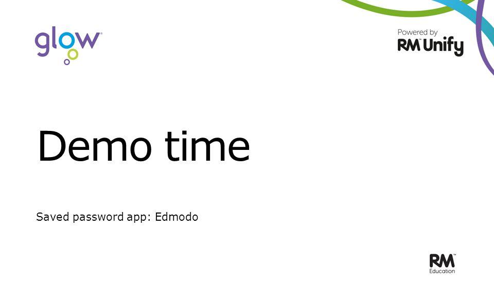 Demo time Saved password app: Edmodo