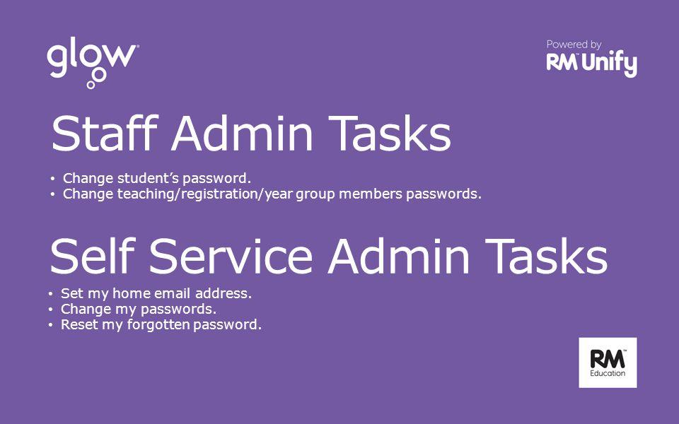 Staff Admin Tasks Change student's password.