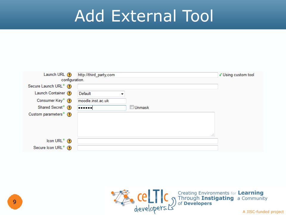 9 Add External Tool