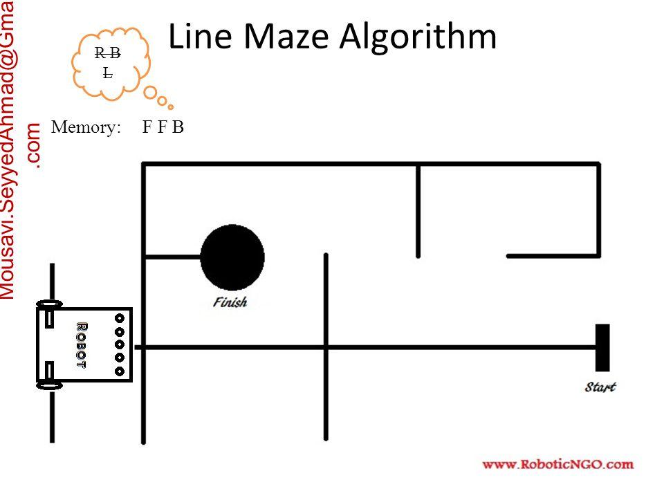 Mousavi.SeyyedAhmad@Gmail.com Memory: F F B R B L Line Maze Algorithm
