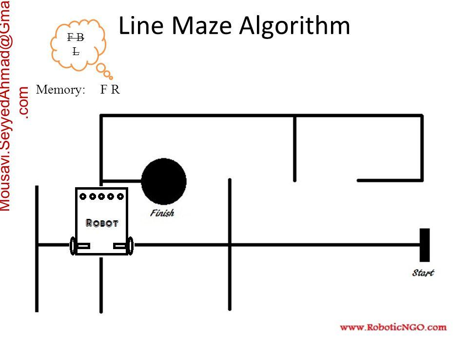 Mousavi.SeyyedAhmad@Gmail.com Memory: F R F B L Line Maze Algorithm
