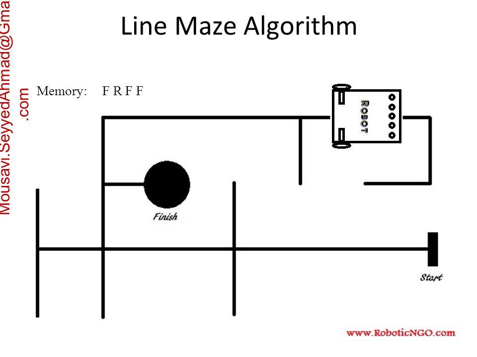 Mousavi.SeyyedAhmad@Gmail.com Memory: F R F F Line Maze Algorithm