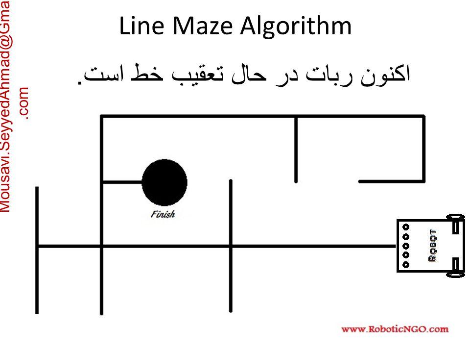 Mousavi.SeyyedAhmad@Gmail.com اکنون ربات در حال تعقیب خط است. Line Maze Algorithm