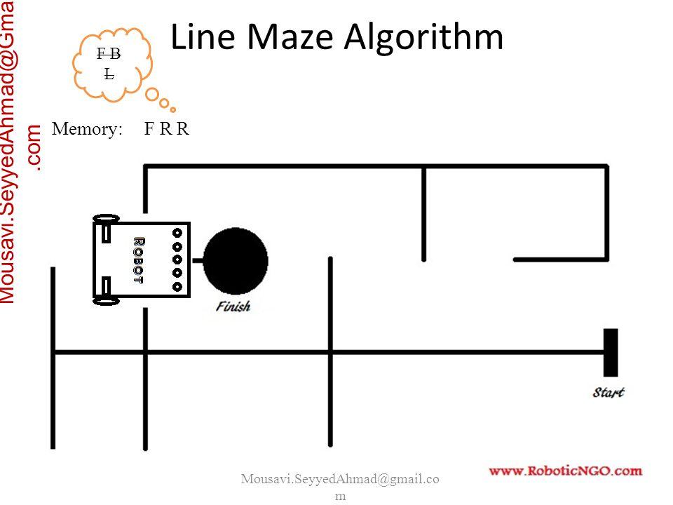 Mousavi.SeyyedAhmad@gmail.co m Mousavi.SeyyedAhmad@Gmail.com Memory: F R R F B L Line Maze Algorithm
