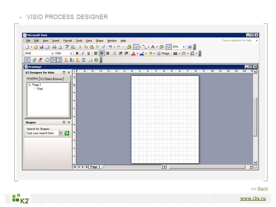 VISIO PROCESS DESIGNER << Back