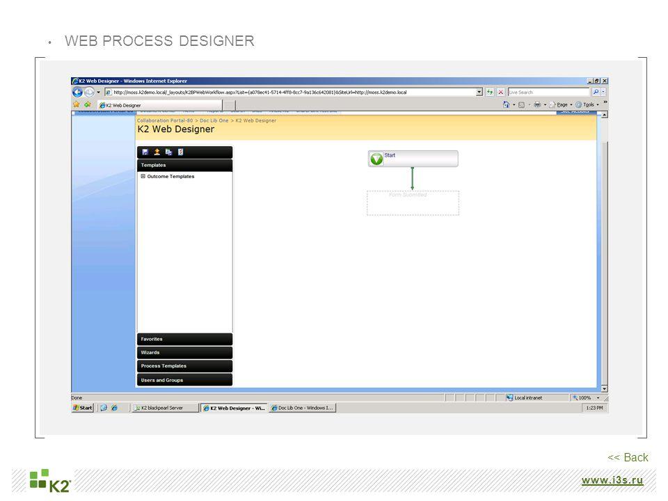 www.i3s.ru WEB PROCESS DESIGNER << Back