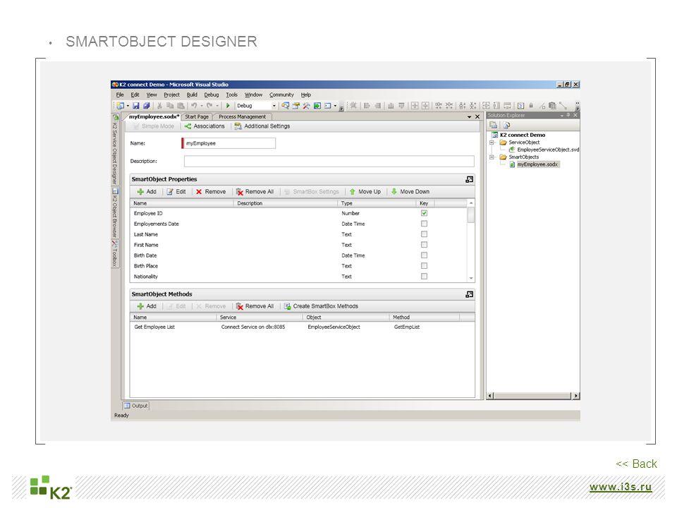 www.i3s.ru SMARTOBJECT DESIGNER << Back