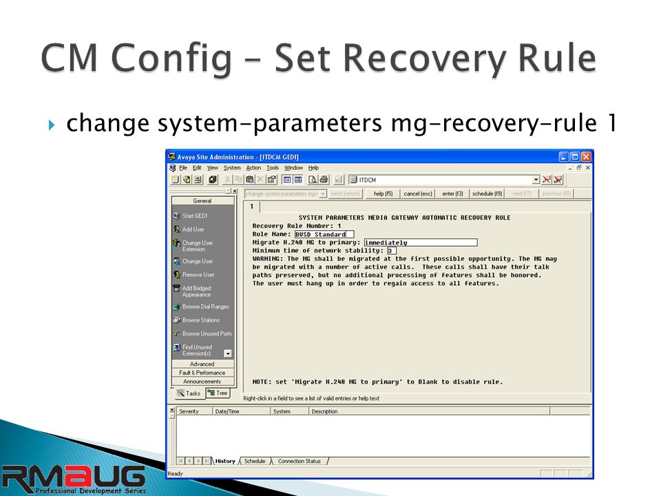  change system-parameters mg-recovery-rule 1