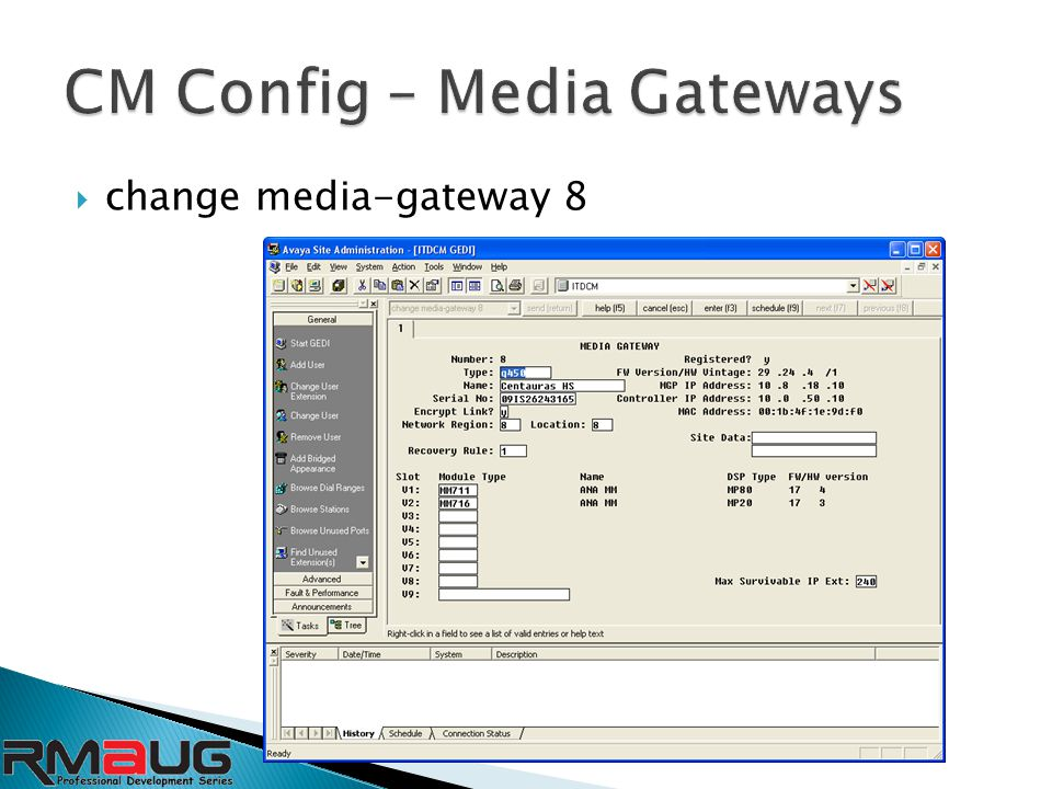  change media-gateway 8