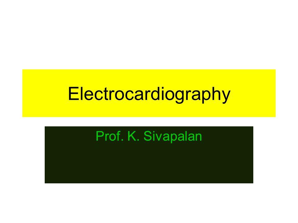 Electrocardiography Prof. K. Sivapalan
