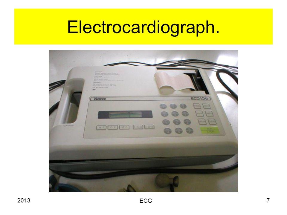 2013 ECG 7 Electrocardiograph.