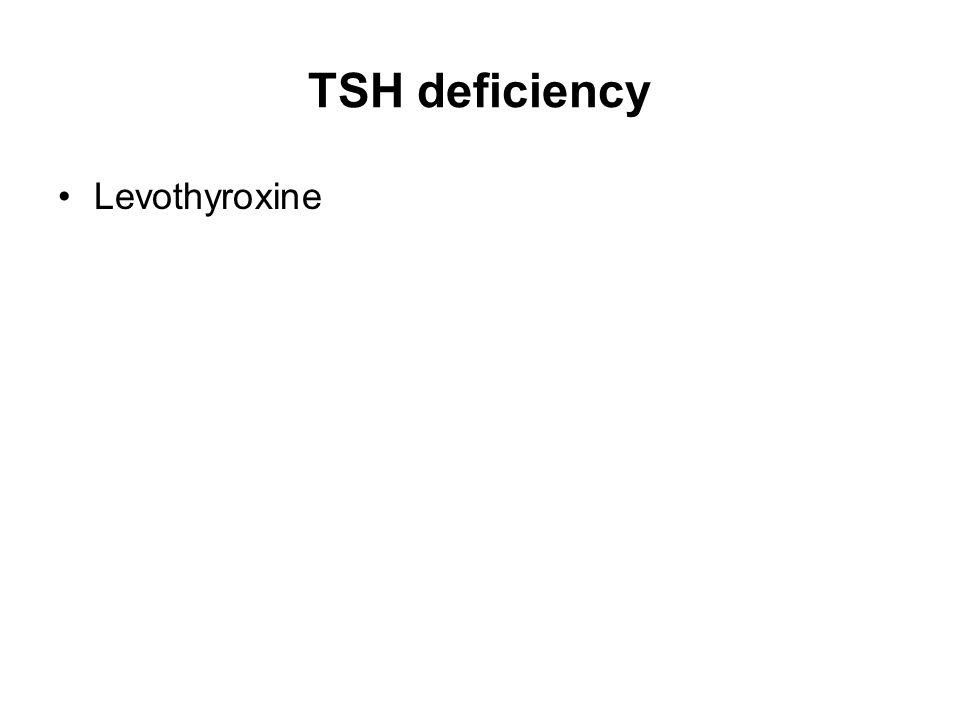 TSH deficiency Levothyroxine