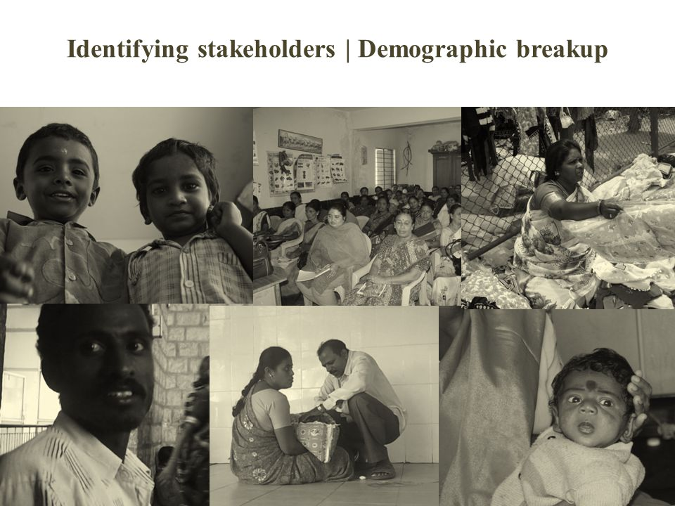 Identifying stakeholders | Demographic breakup
