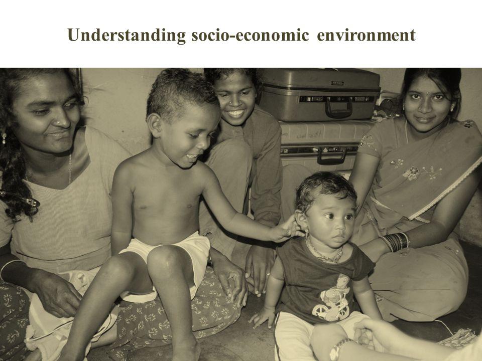 Understanding socio-economic environment