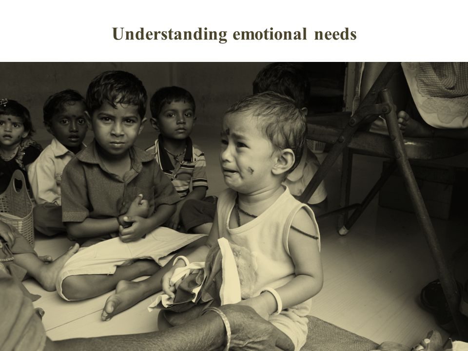Understanding emotional needs
