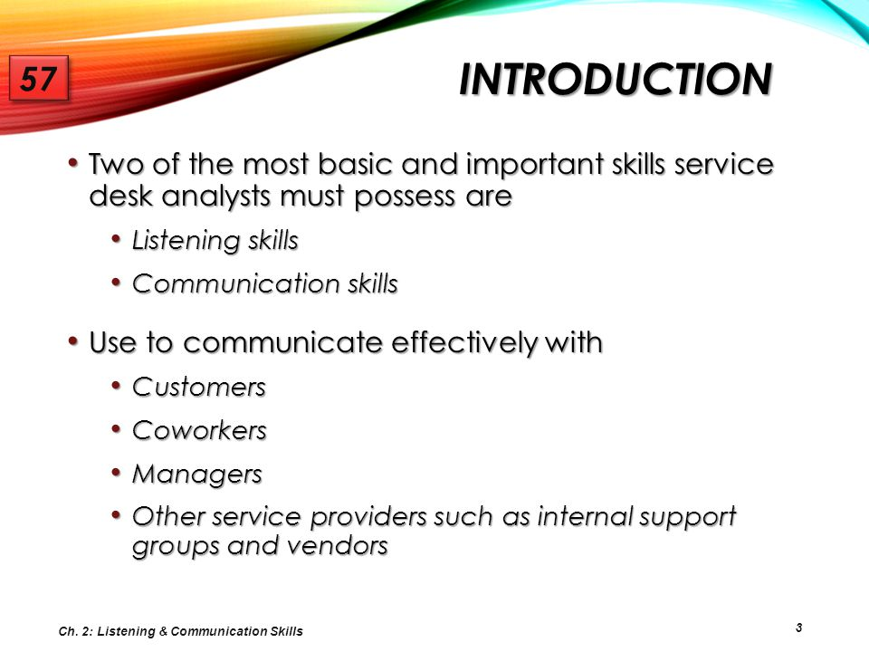 TOPIC 1: THE POWER OF ACTIVE LISTENING 57