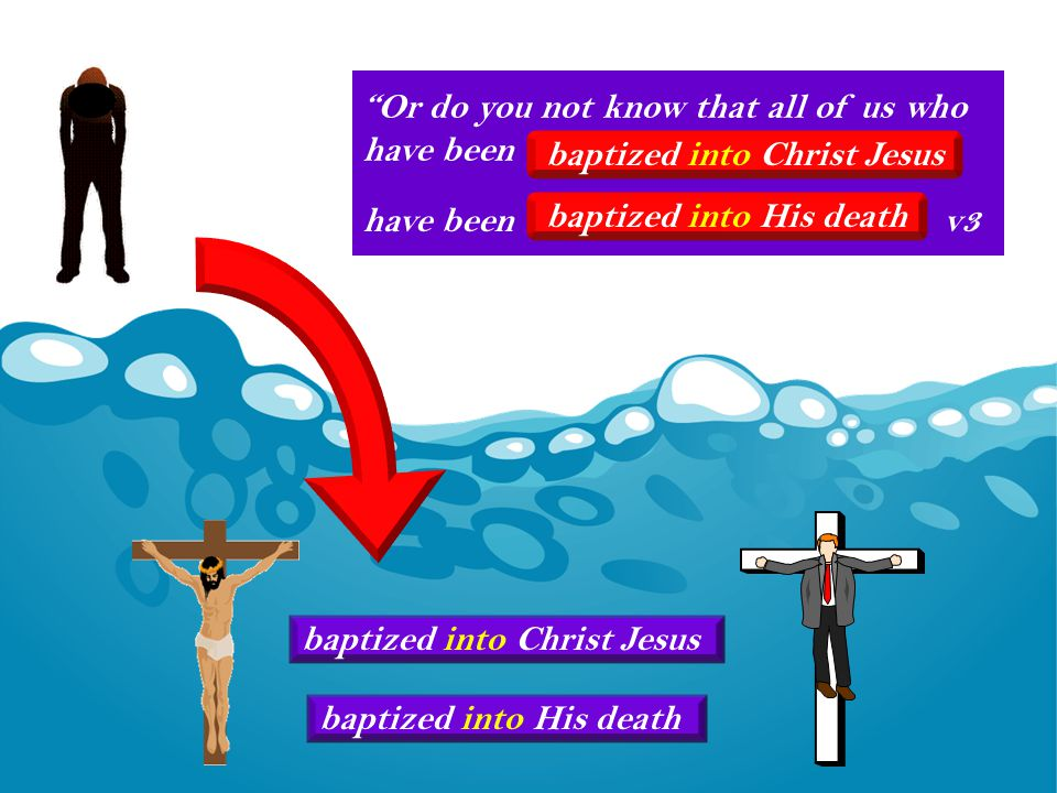 Or do you not know that all of us who have been baptized into Christ Jesus baptized into His death baptized into Christ Jesus have been v3 baptized into His death