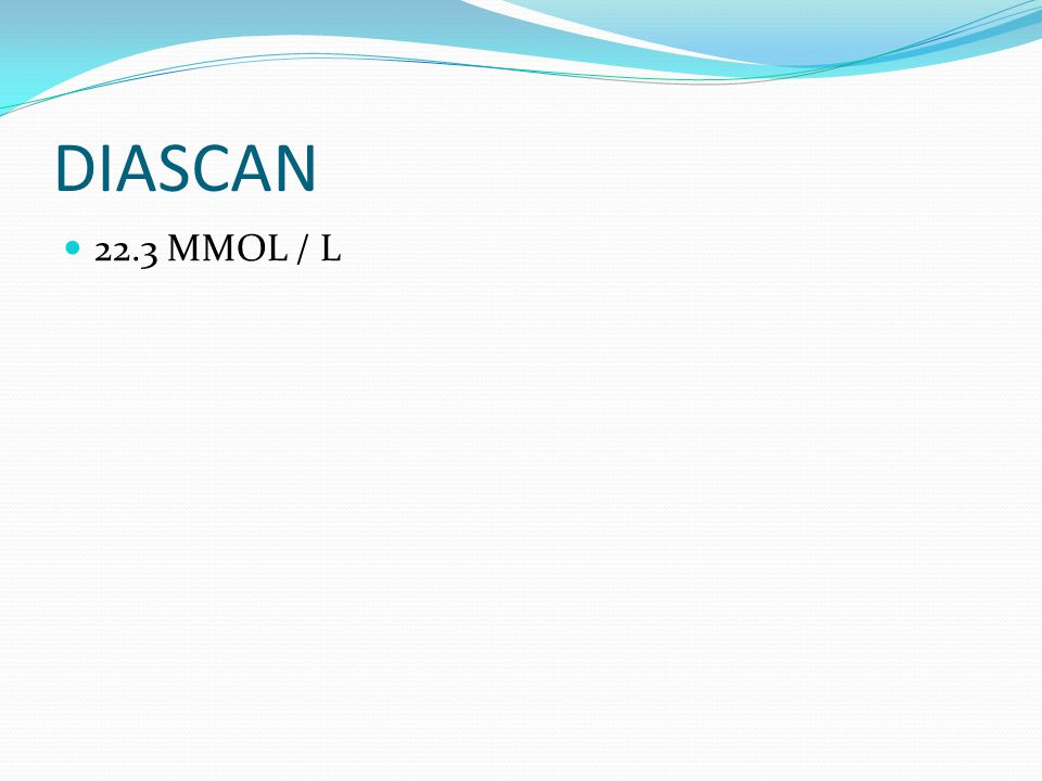 DIASCAN 22.3 MMOL / L