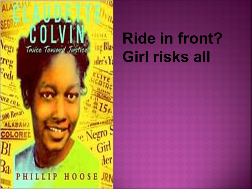 Ride in front? Girl risks all