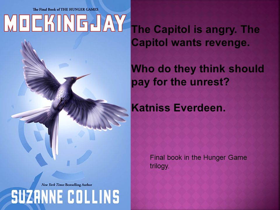 Final book in the Hunger Game trilogy. The Capitol is angry.