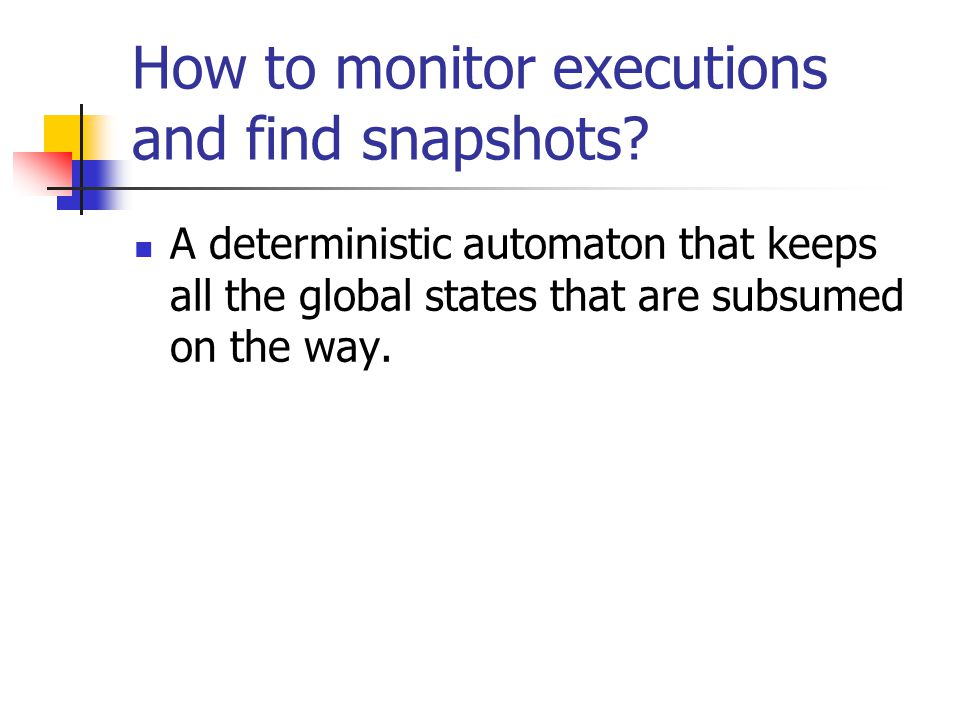 How to monitor executions and find snapshots.