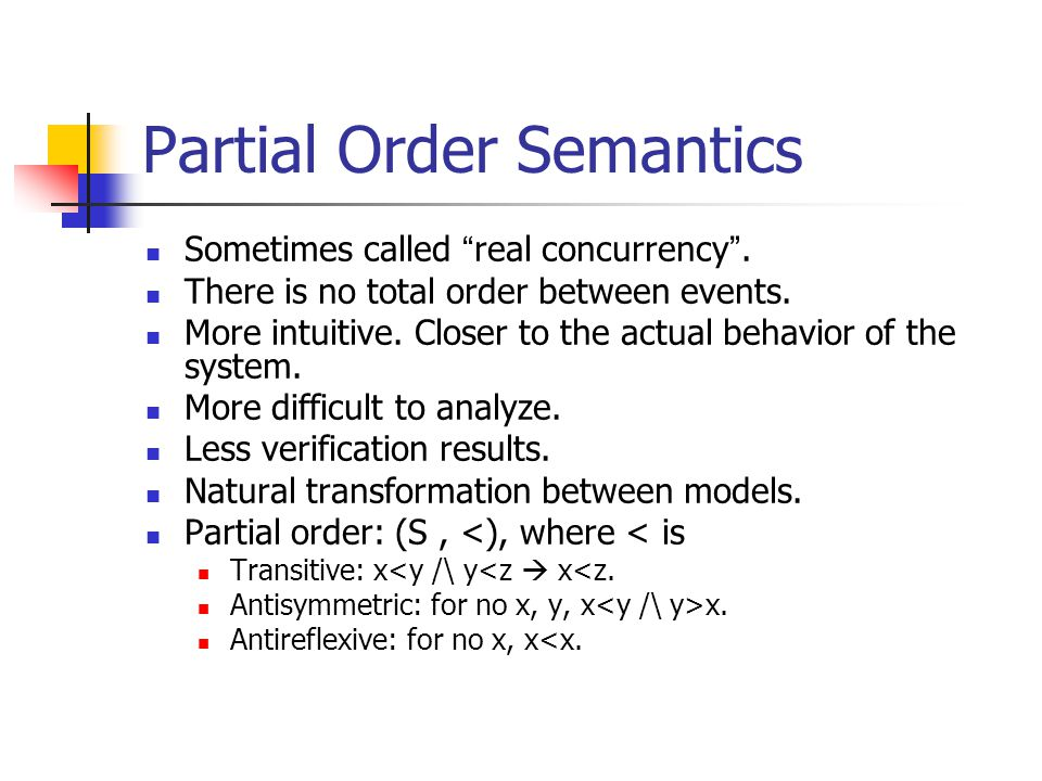 Can be formulated as follows: proc(a) – the set of processes where action a participates.