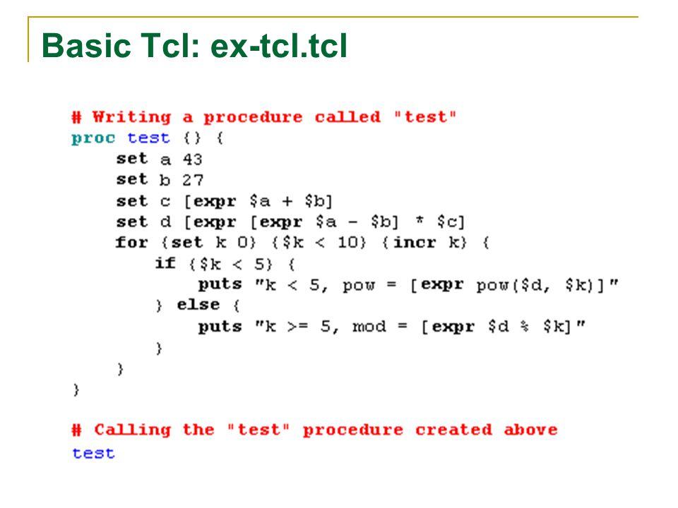 Basic Tcl: ex-tcl.tcl