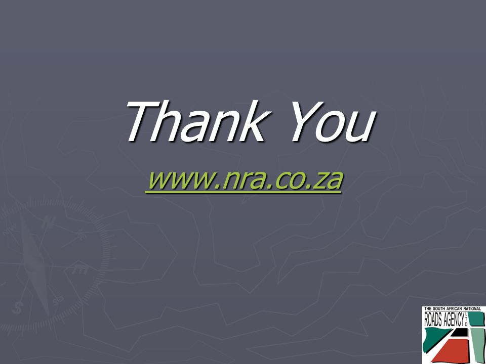 Thank You www.nra.co.za