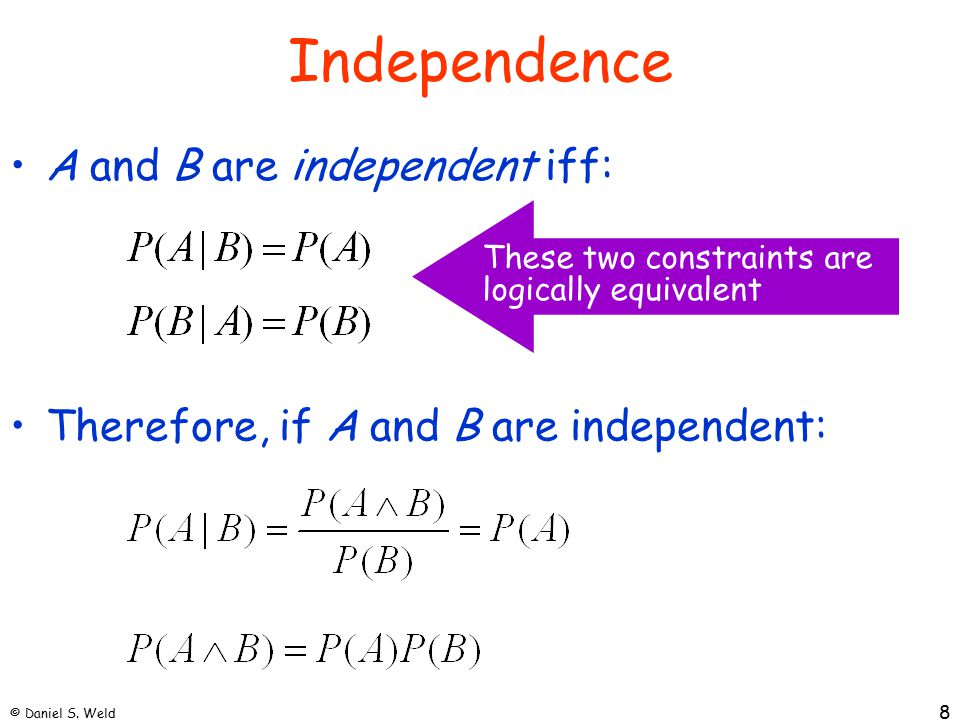 © Daniel S.Weld 19 Bayes Nets In general, joint distribution P over set of variables (X 1 x...