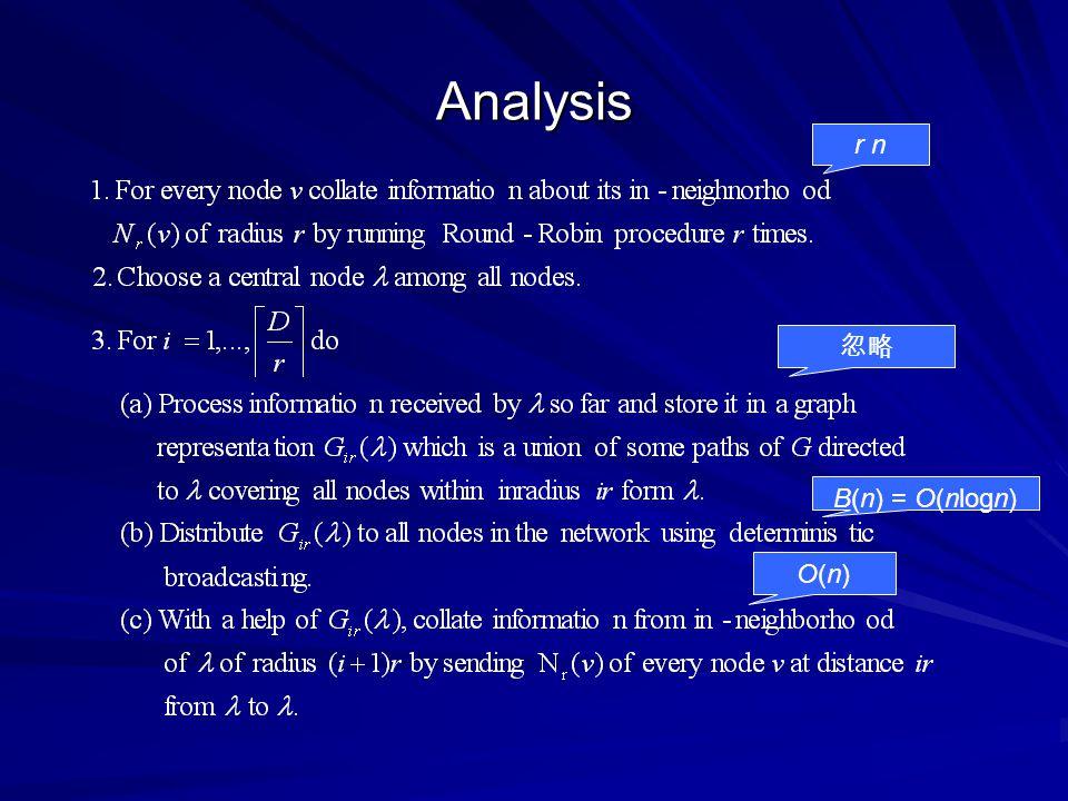 Analysis r n 忽略 B(n) = O(nlogn) O(n)O(n)