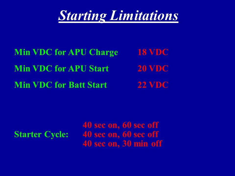 Starter Limitations