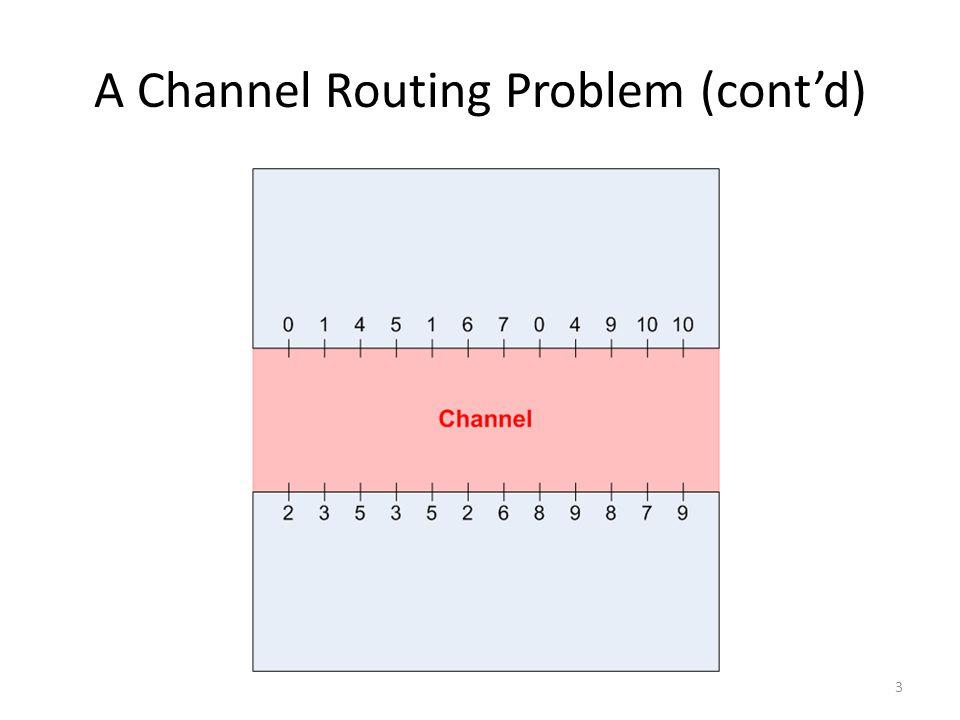 A Channel Routing Problem (cont'd) 3