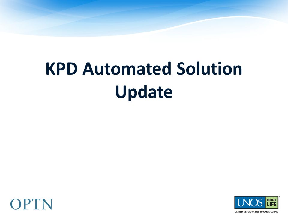 KPD Automated Solution Update
