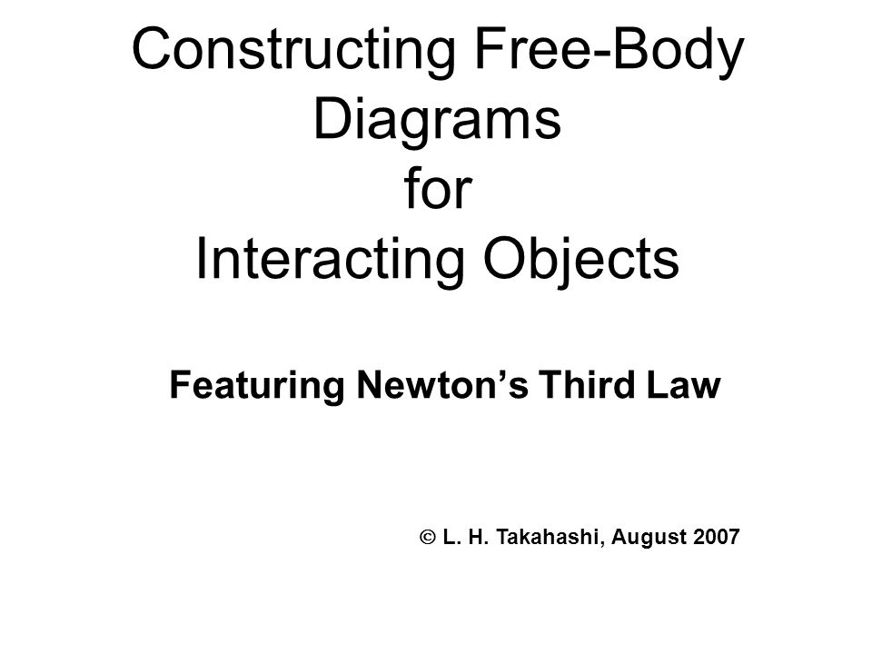 Constructing Free-Body Diagrams for Interacting Objects Featuring Newton's Third Law  L.