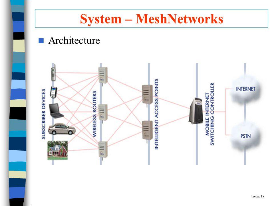 tseng:19 System – MeshNetworks Architecture