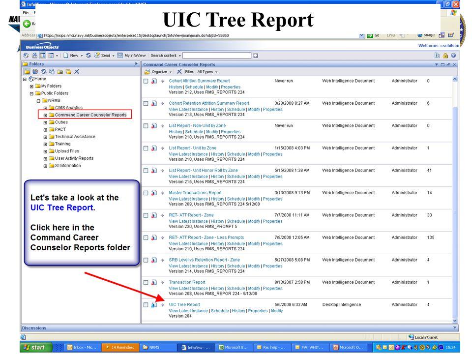 5 UIC Tree Report