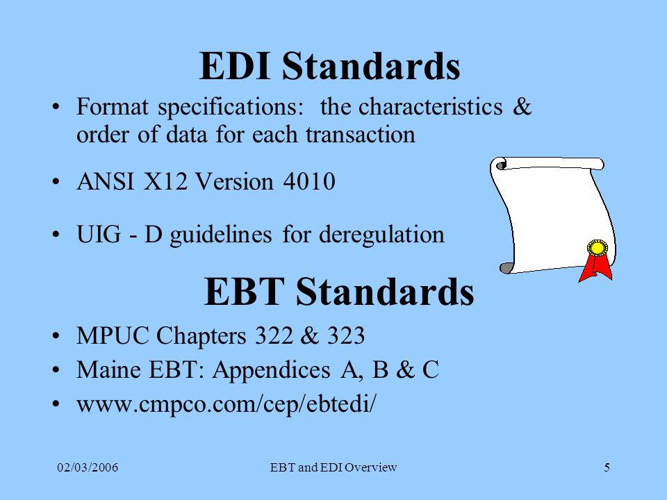 02/03/2006EBT and EDI Overview15 SOP Transactions ID 810 - 3 Description Aggregated Billing Information Transaction Set