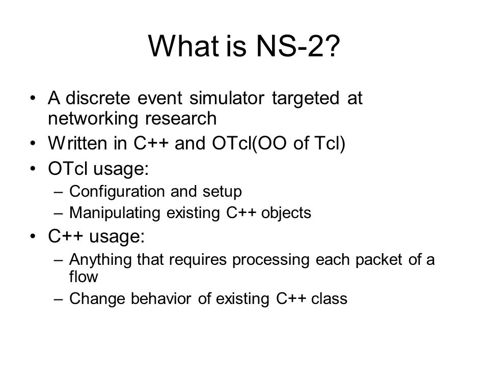 What is NS-2.