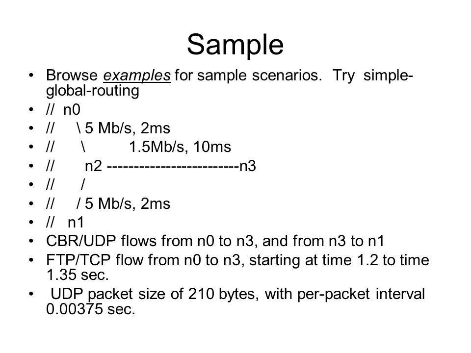 Sample Browse examples for sample scenarios.