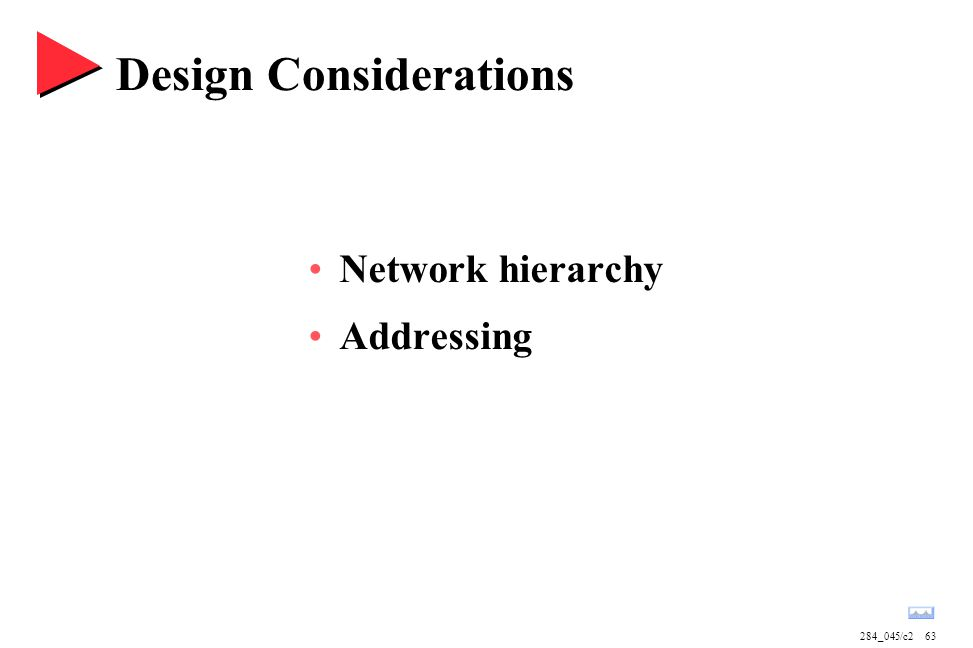 284_045/c263 Design Considerations Network hierarchy Addressing