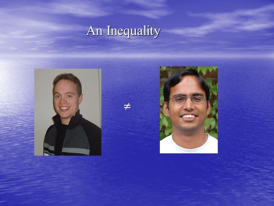 An Inequality 