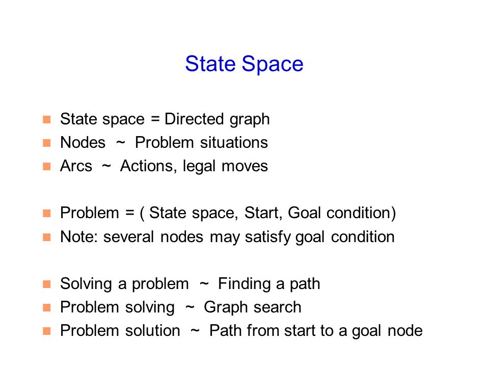 % solve( Start, Solution): % Solution is a path (in reverse order) from Start to a goal solve( Start, Solution) :- breadthfirst( [ [Start] ], Solution).