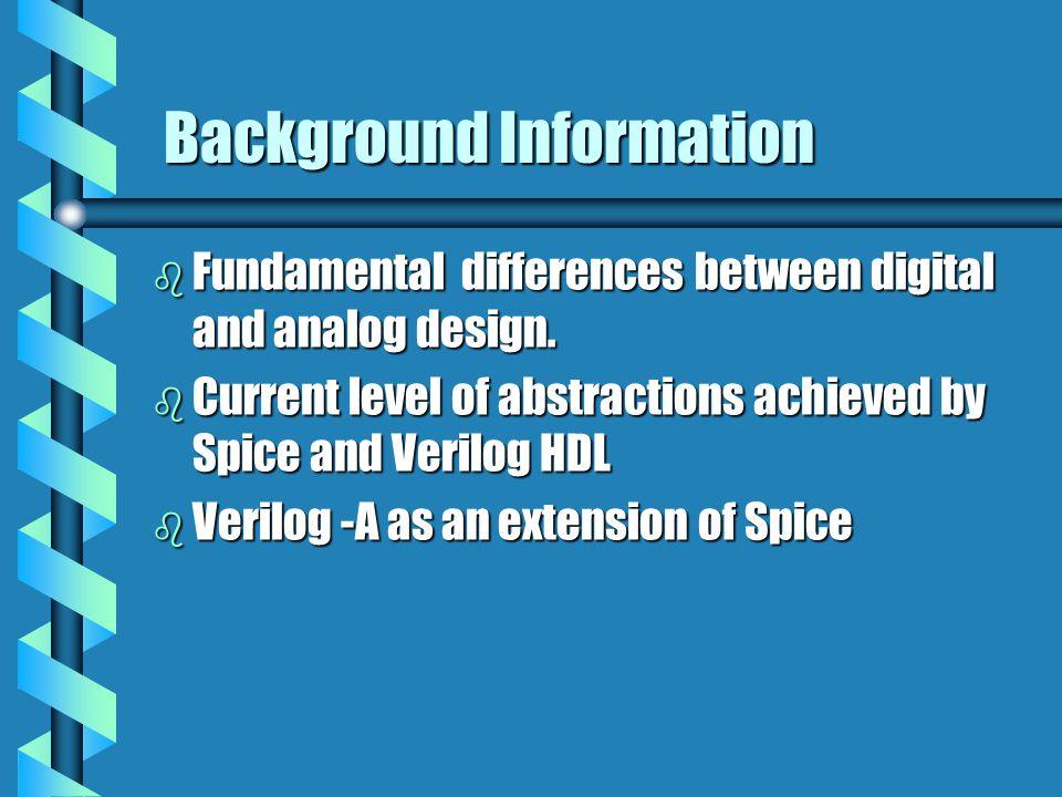 Analog System Simulation design behavior structure Formulation System of Equations