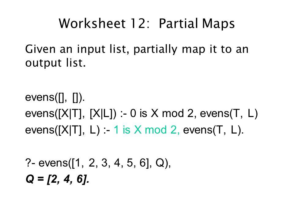 General Scheme for Partial Maps partial([], []).