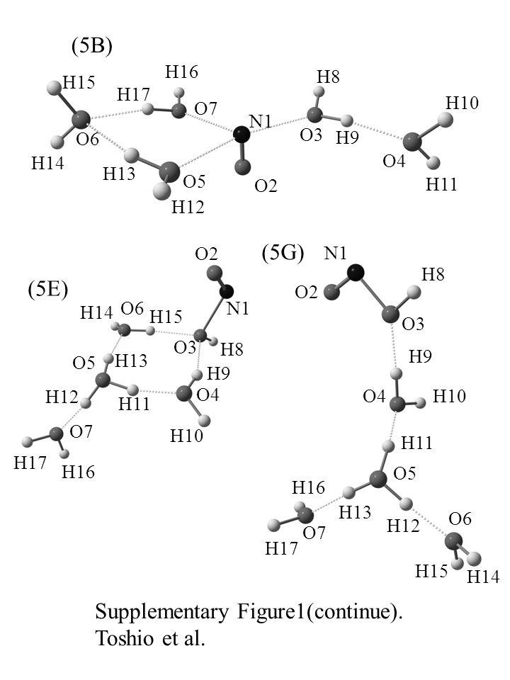 (5B) N1 O2 O3 O4 O5 O6 O7O7 H8H8 H9H9 H10 H11 H12 H13 H14 H15 H16 H17 (5E) N1 O2 O3 O4 O5 O6 O7O7 H14 H8H8 H9H9 H10 H11 H12 H13 H15 H16 H17 Supplementary Figure1(continue).