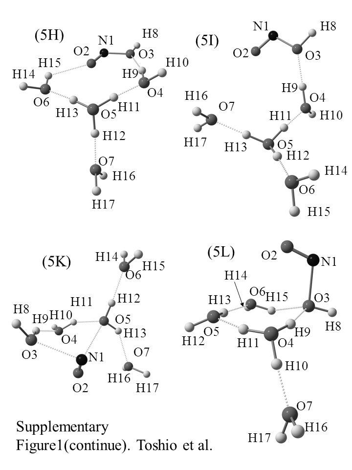 (5L) N1 O2 O3 O4 O5 O6 O7O7 H8H8 H9H9 H10 H11 H12 H13 H14 H15 H16 H17 (5I) N1 O2 O3 O4 O5 O6 O7O7 H9H9 H10 H11 H12 H13 H8H8 H14 H15 H16 H17 Supplementary Figure1(continue).
