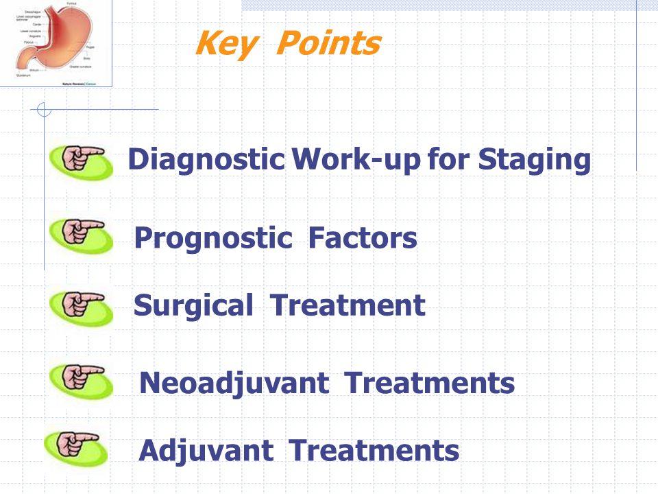 Key Points Diagnostic Work-up for Staging Prognostic Factors Surgical Treatment Adjuvant Treatments Neoadjuvant Treatments
